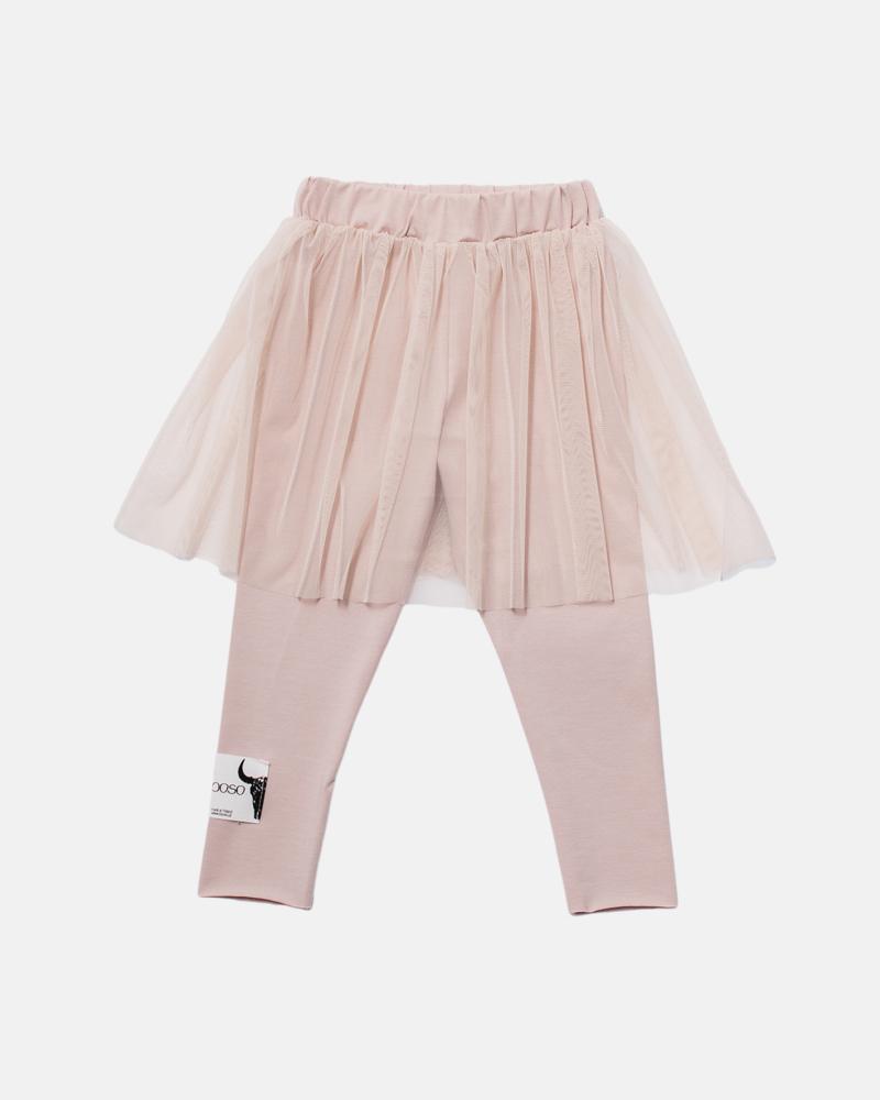 DOUBLE TULE SKIRT dusty pink
