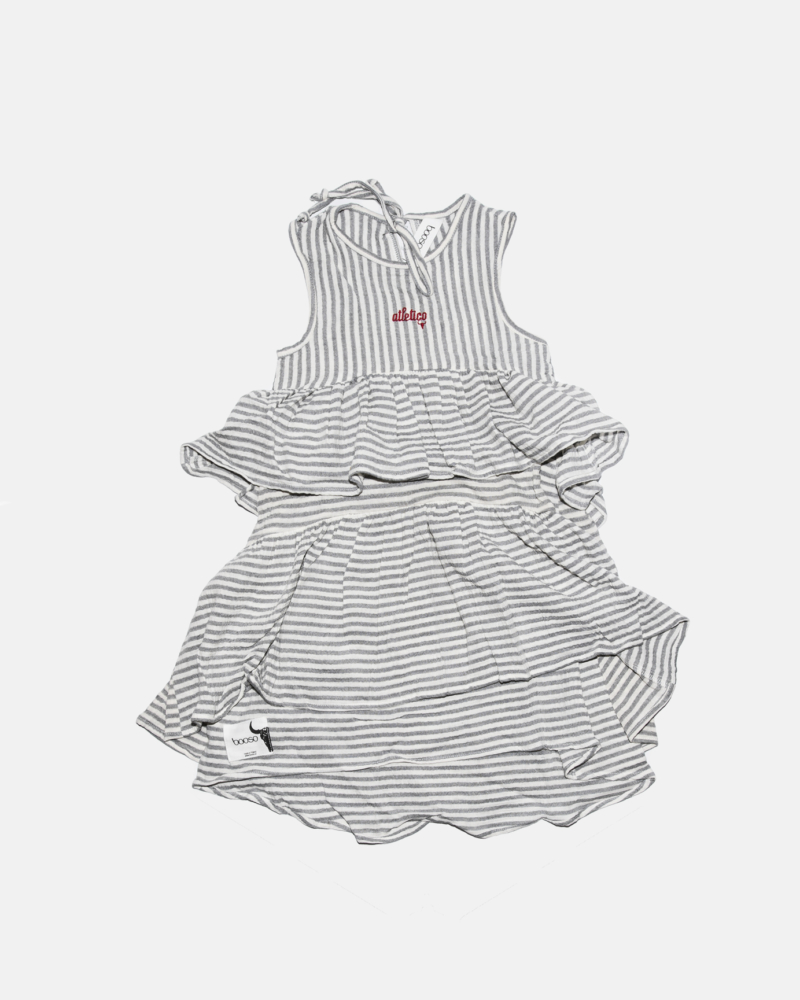 ATLETICO WAVE DRESS ecru/szara