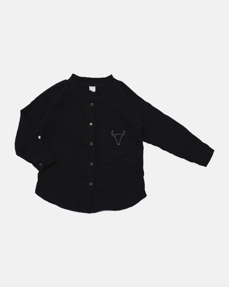 BLACK BISON SHIRT black