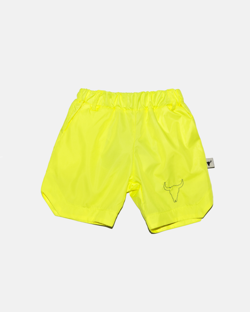 NEON NYLON SHORTS neon yellow