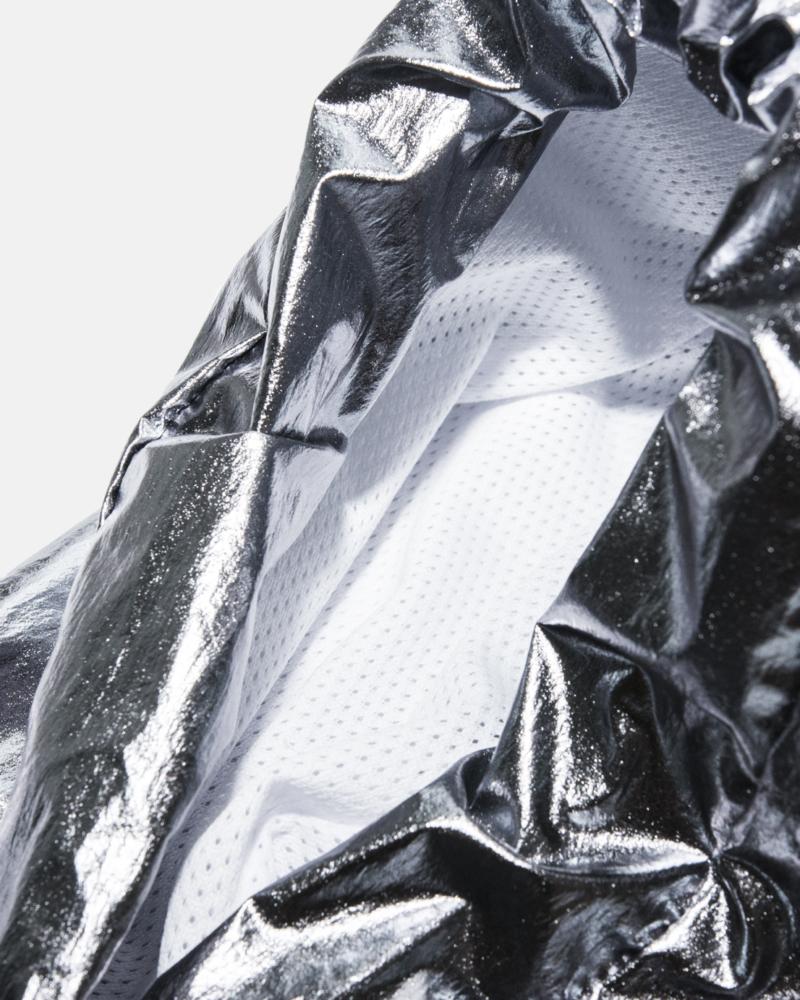 SILVER WIND COAT silver