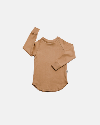 koszulka dziecięca- BASIC LONGSLEEVE camel
