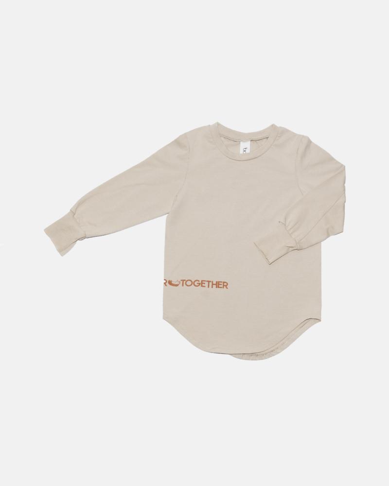 koszulka dziecięca – WELT LONGSLEEVE ivory/terra