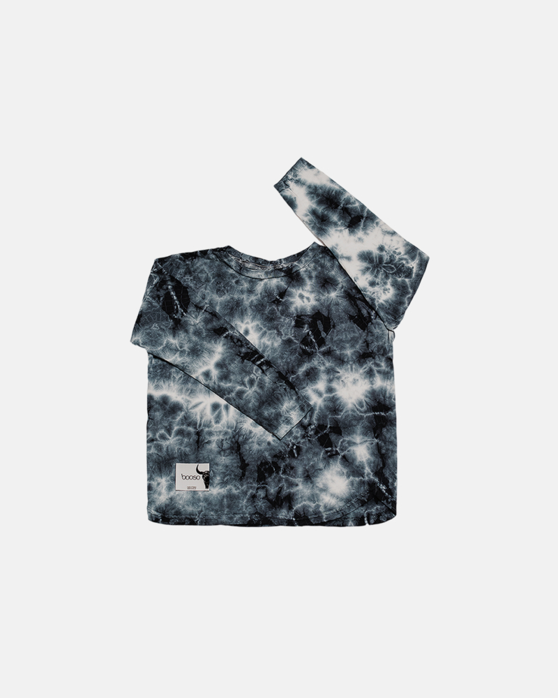 koszulka dziecięca- TIEDYE LONGSLEEVE graphite