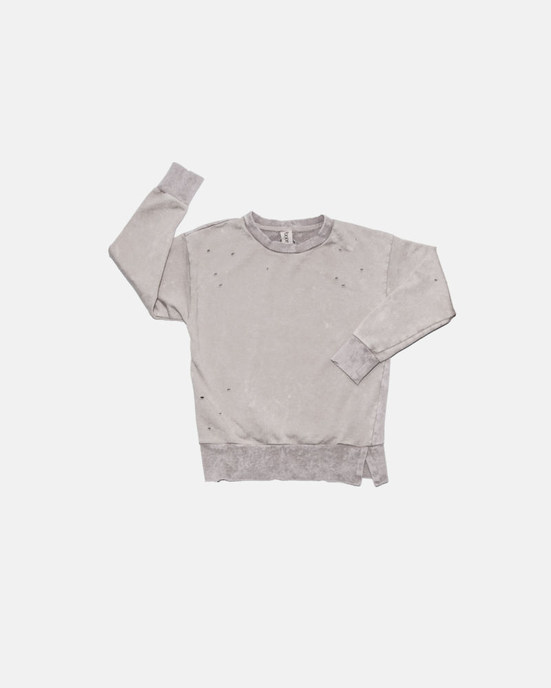 TORN SWEATSHIRT gray