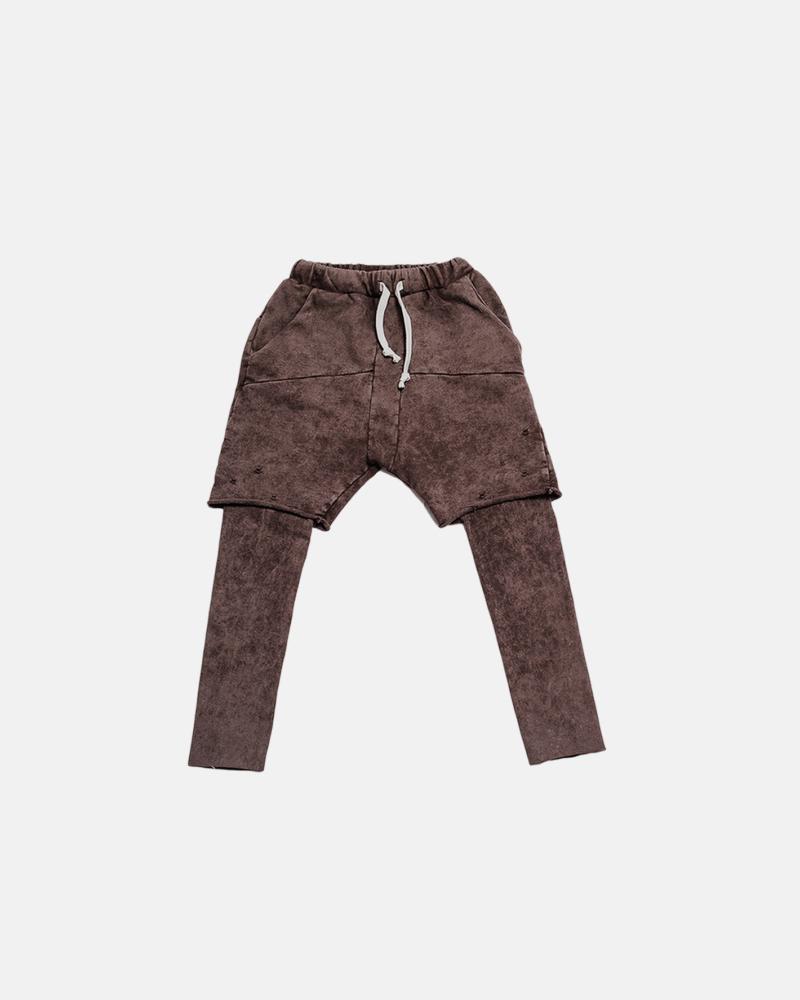 spodnie dziecięce – DOUBLE TORN PANTS brown
