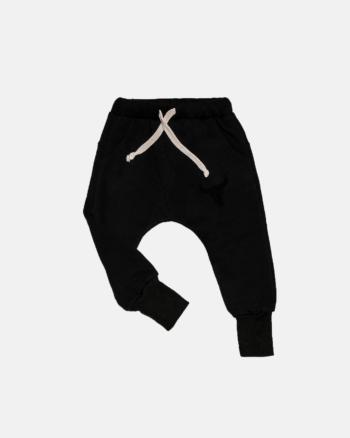 SIMPLE BISON PANTS black