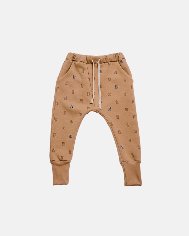 spodnie dziecięce- BOOSO WELT PANTS camel