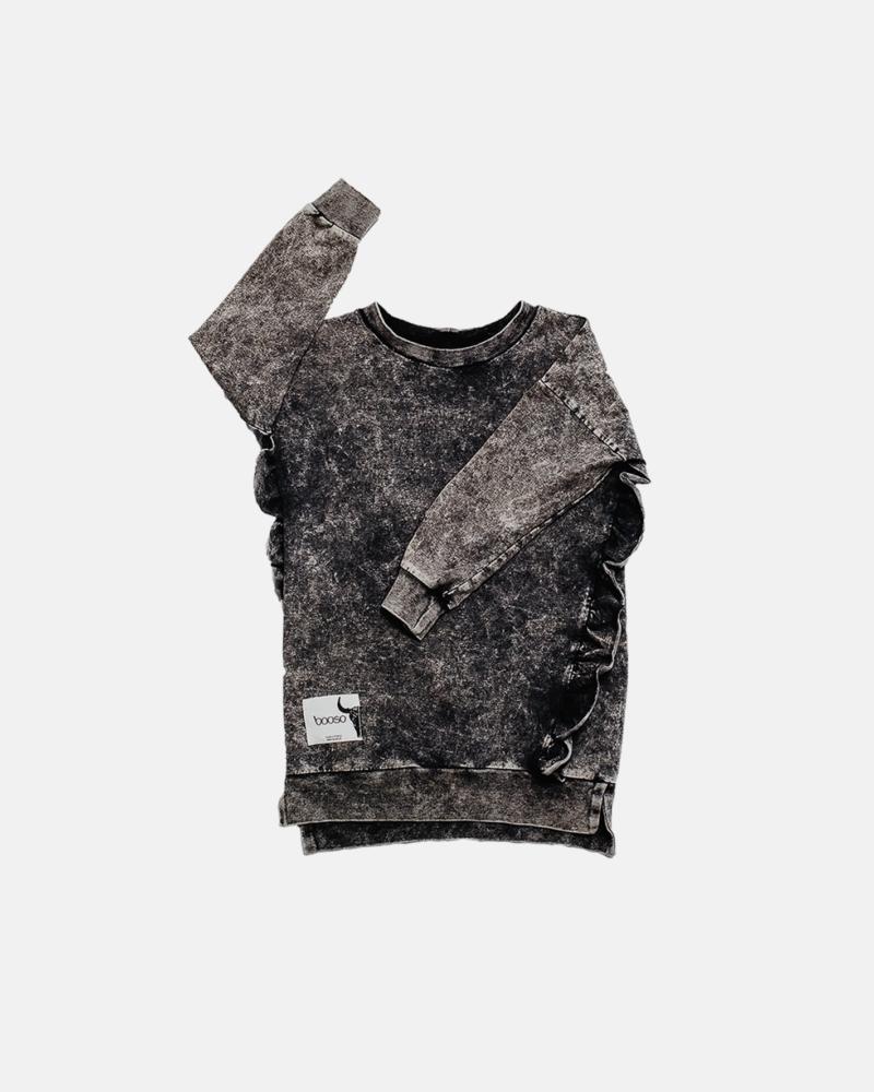 SUKIENKA DZIECIĘCA -FRILL DRESS acid black