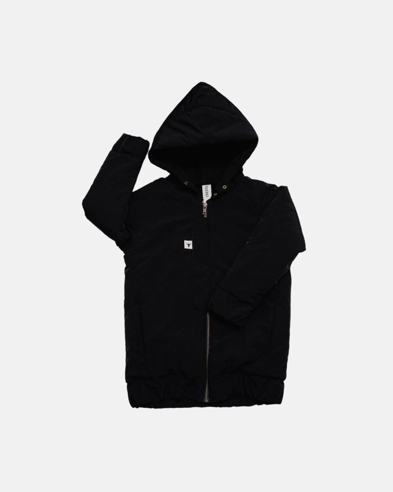 kurtka dziecięca- BLACK NYLON COAT black MAT