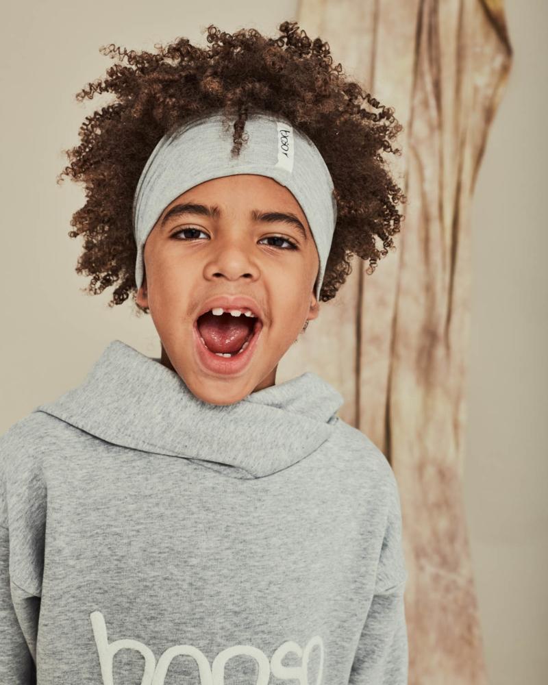 bluza dziecięca- BOOSO HOODIE gray