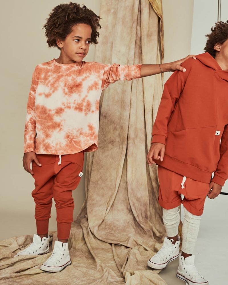 koszulka dziecięca- TIEDYE LONGSLEEVE terra