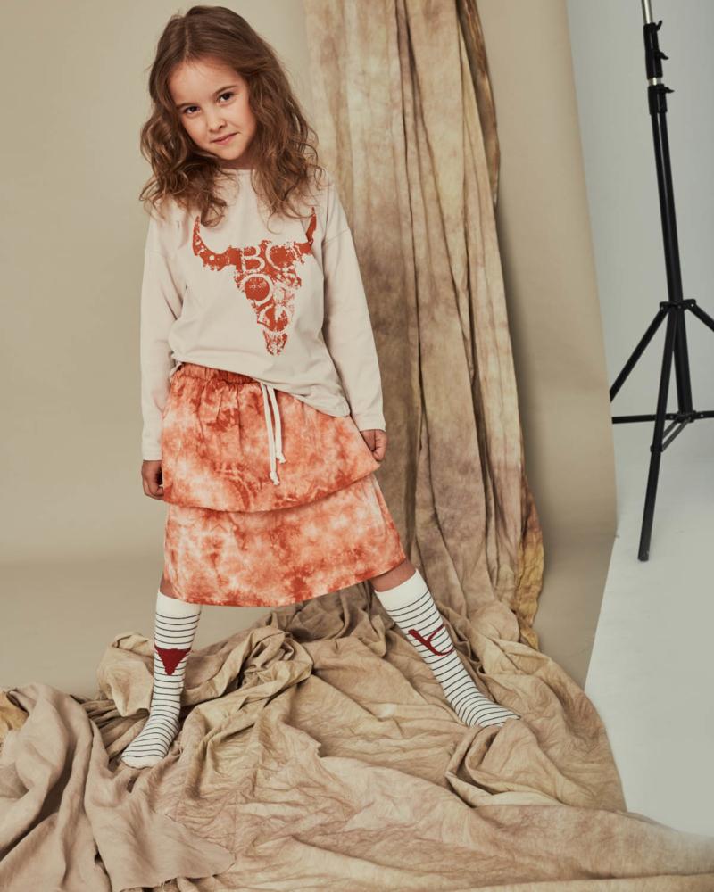 koszulka dziecięca- BISON WIDE LONGSLEEVE ivory/terra