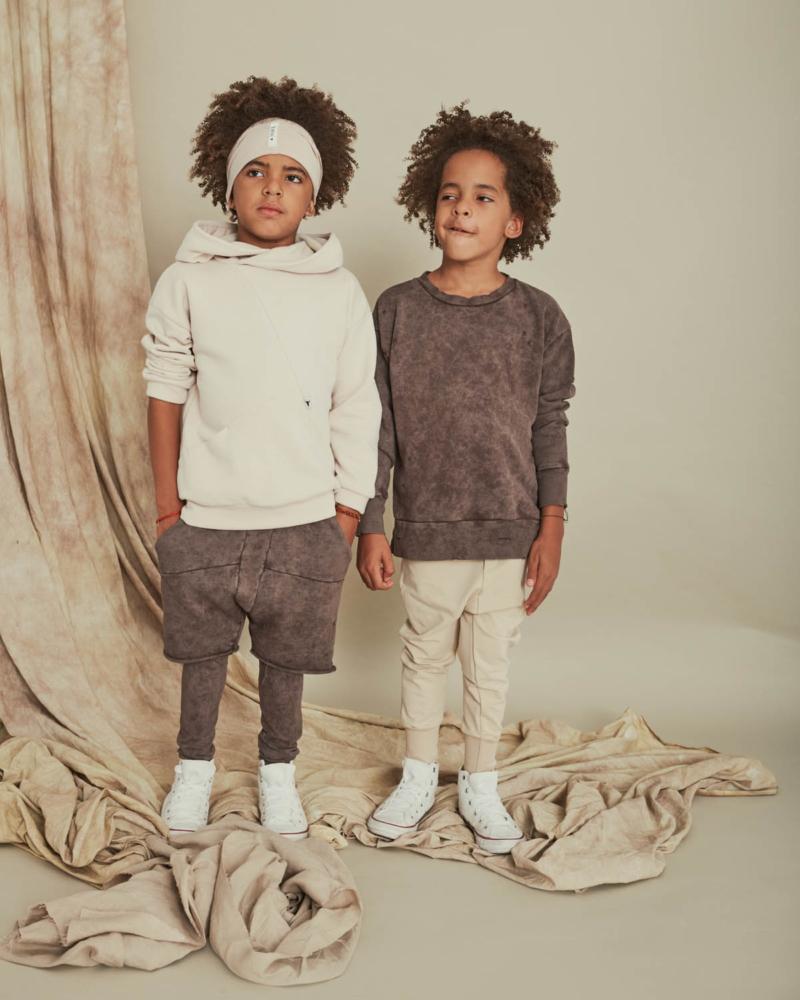 bluza dziecięca – TORN SWEATSHIRT brown