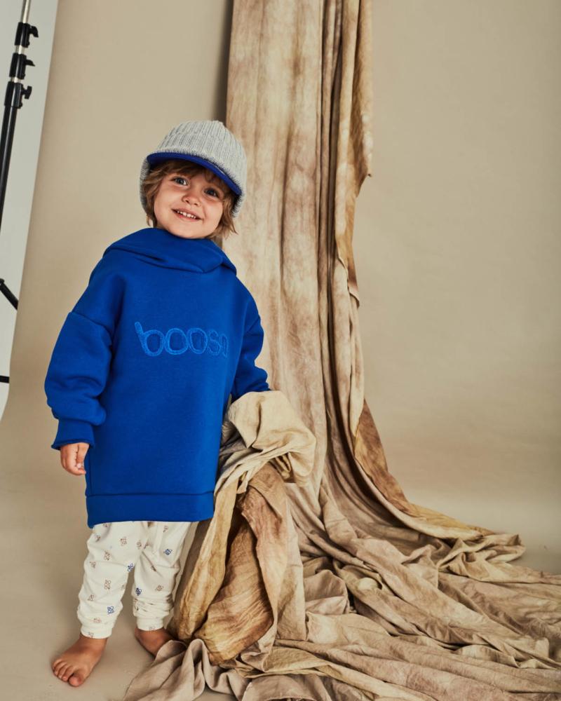 bluza dziecięca- BOOSO HOODIE cornflower